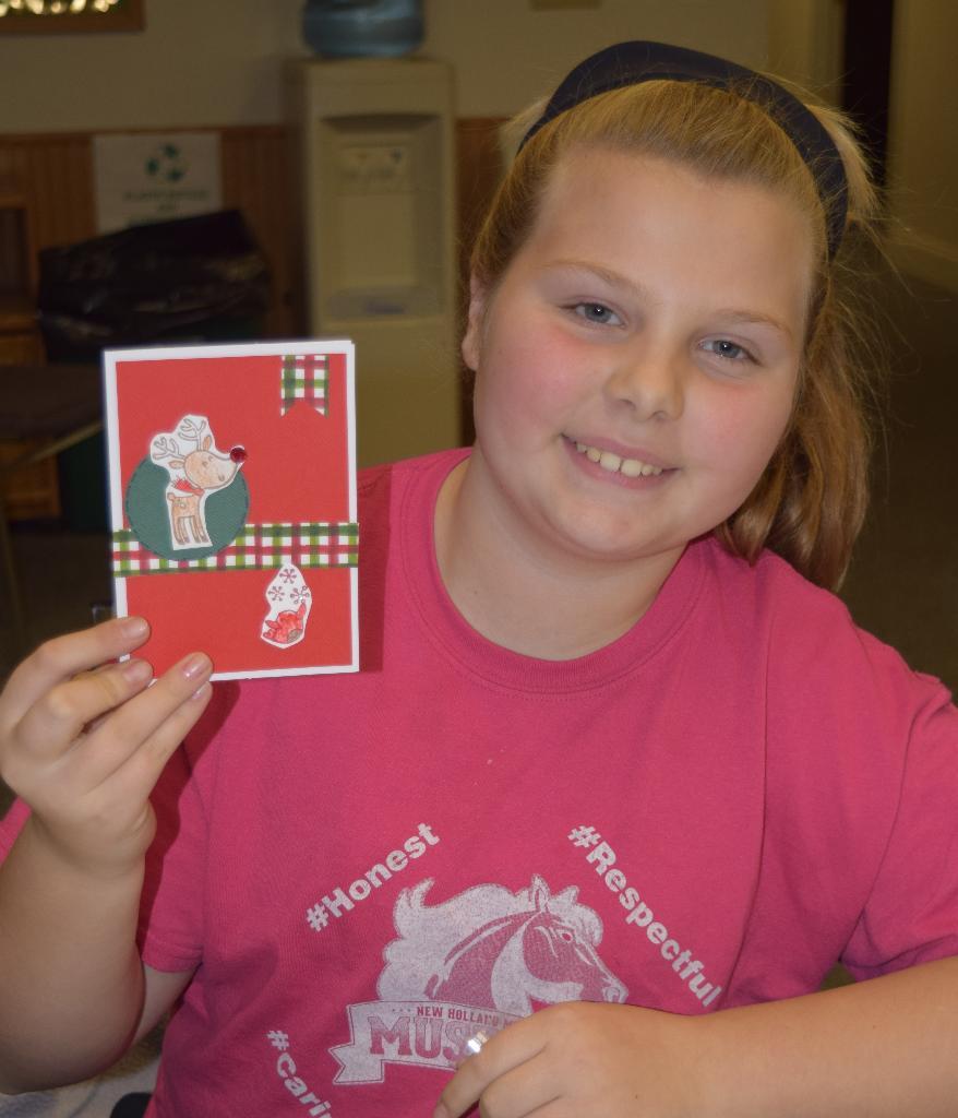 Klarissa's favorite completed card