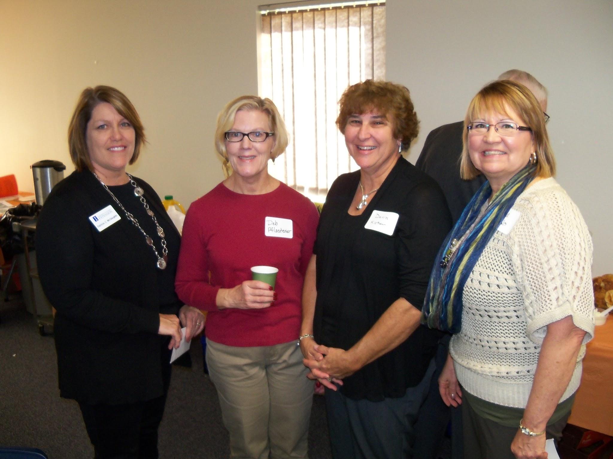 Pat McGaughlin, Deb Pflasterer, Denise Kistner, and Diane Ryals.