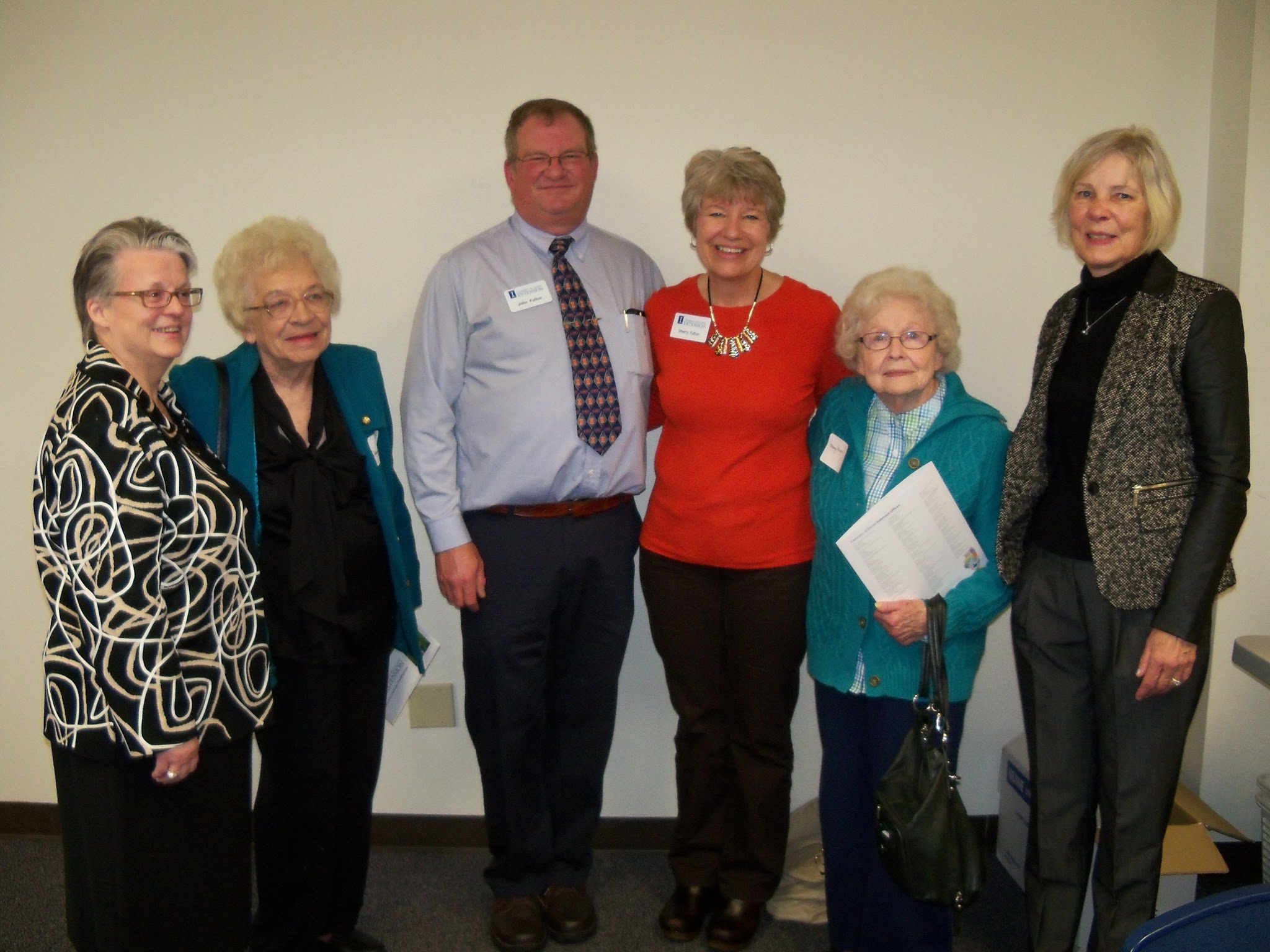 Jane Scherer, Marge Sohn, John Fulton, Sherry Fulton, Marge Mead, & Nancy King.