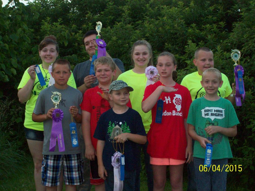 Fayette County 4-H Archery Competition Ribbons and Trophies