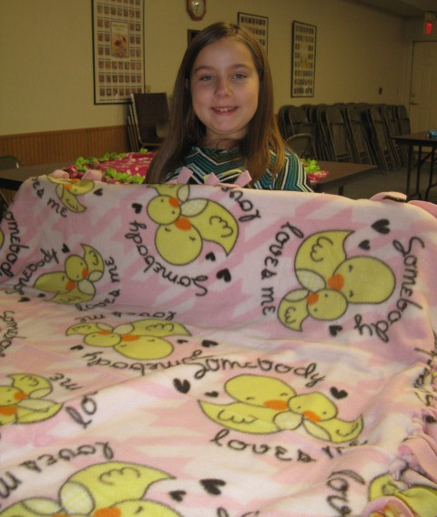 Jessa and her blanket