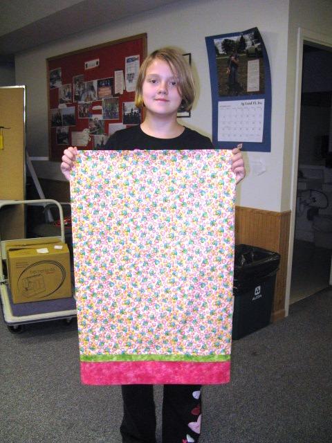 devyn finished pillowcase