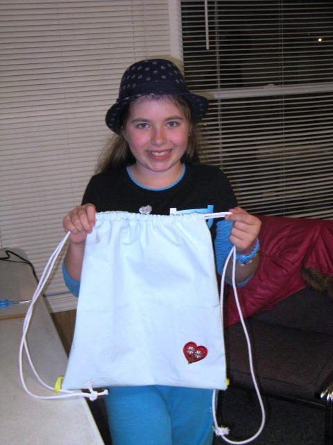 Rachel finished backpack bag