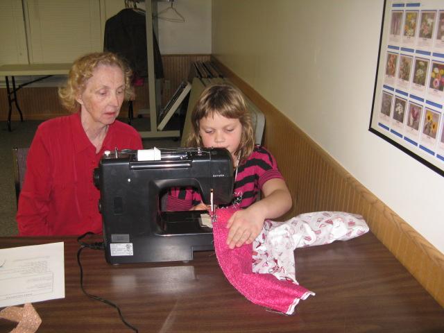 Jasmine sewing