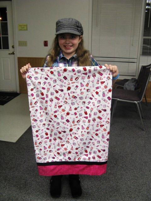 rachel finished pillowcase