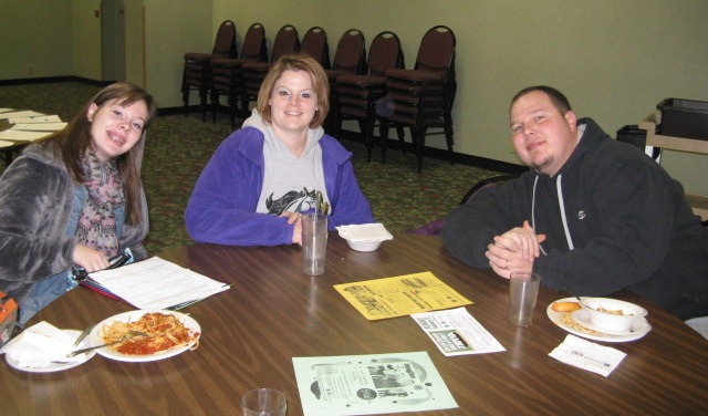 Helton's at the Spaghetti Meal