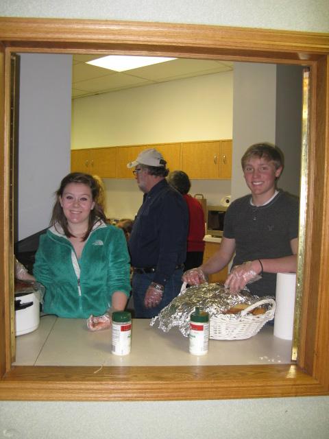 Ambassadors serving meals