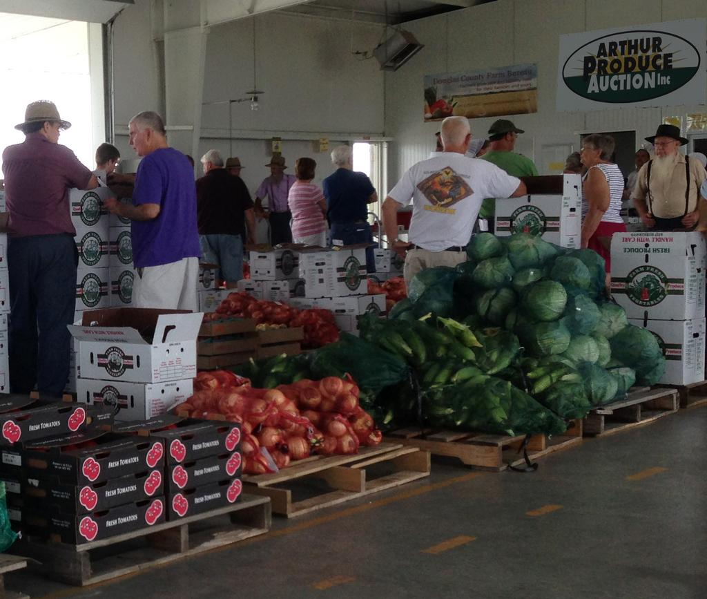 Our small farms and local food educator checked out the fresh produce at the Arthur Produce Market