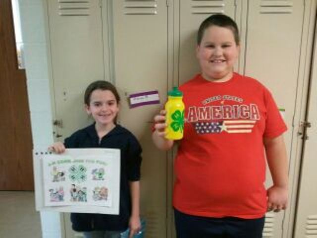 2012 Brown County Schools Coloring Contest Winners for National 4-H Week.