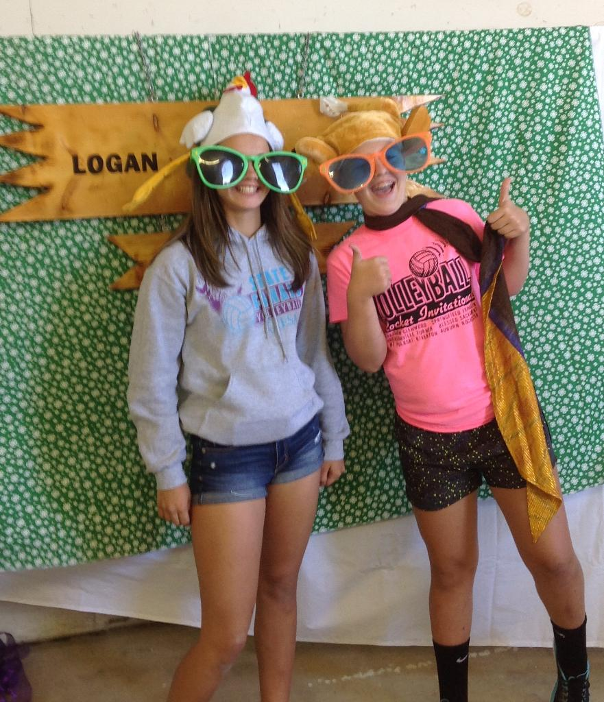 Abigail F and Claire C at Photo Booth