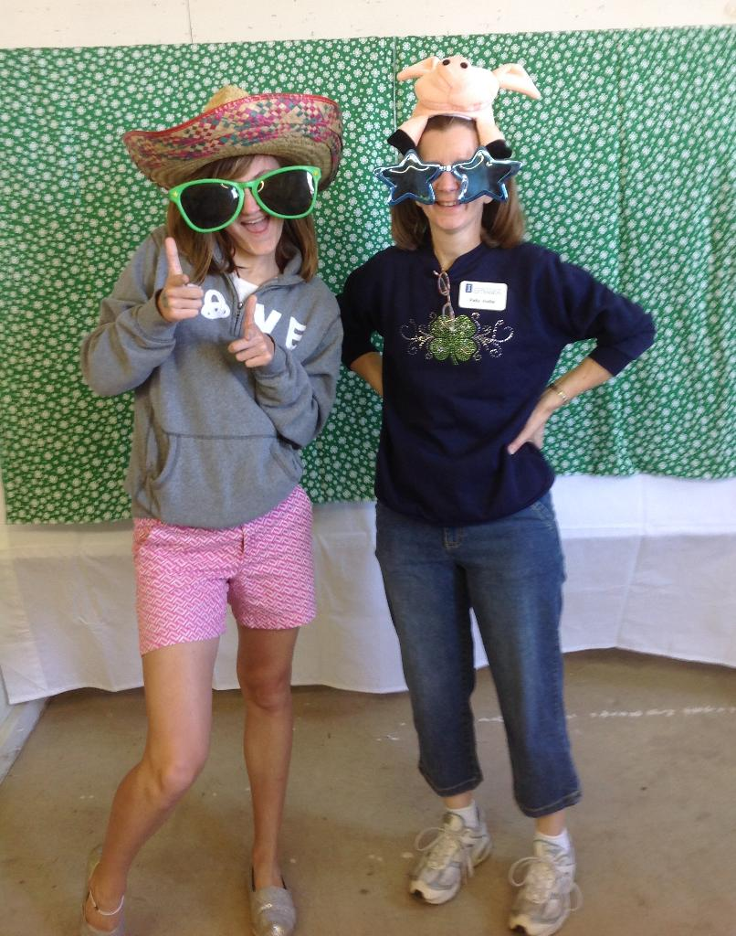 Alyssa and Patty at photo booth