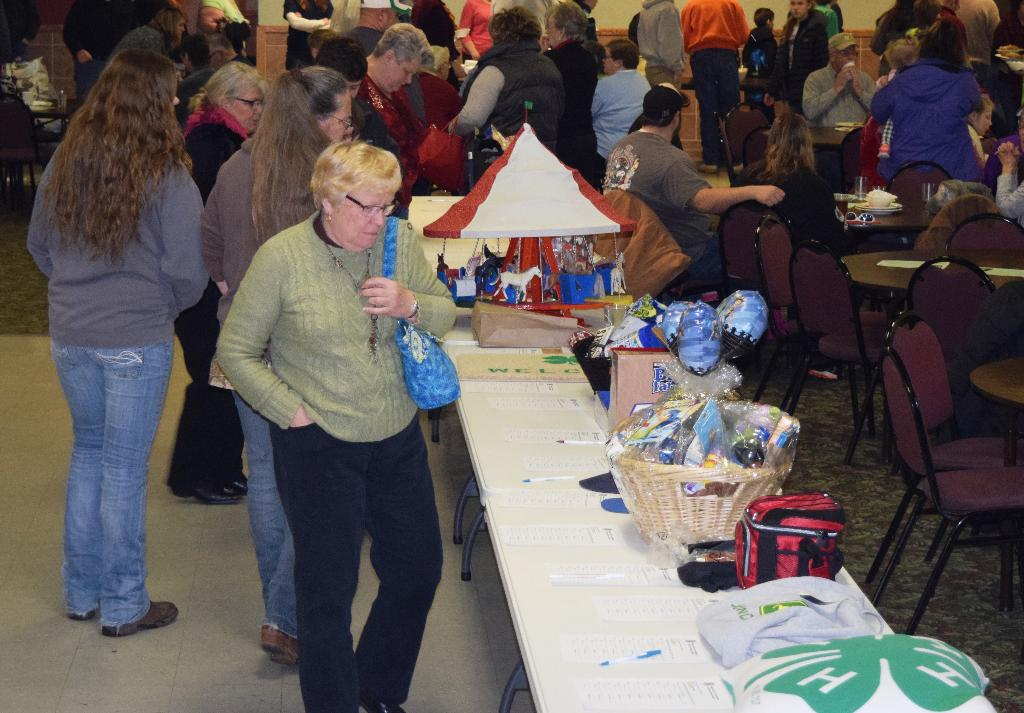 Lots of items donated for Silent Auction tables