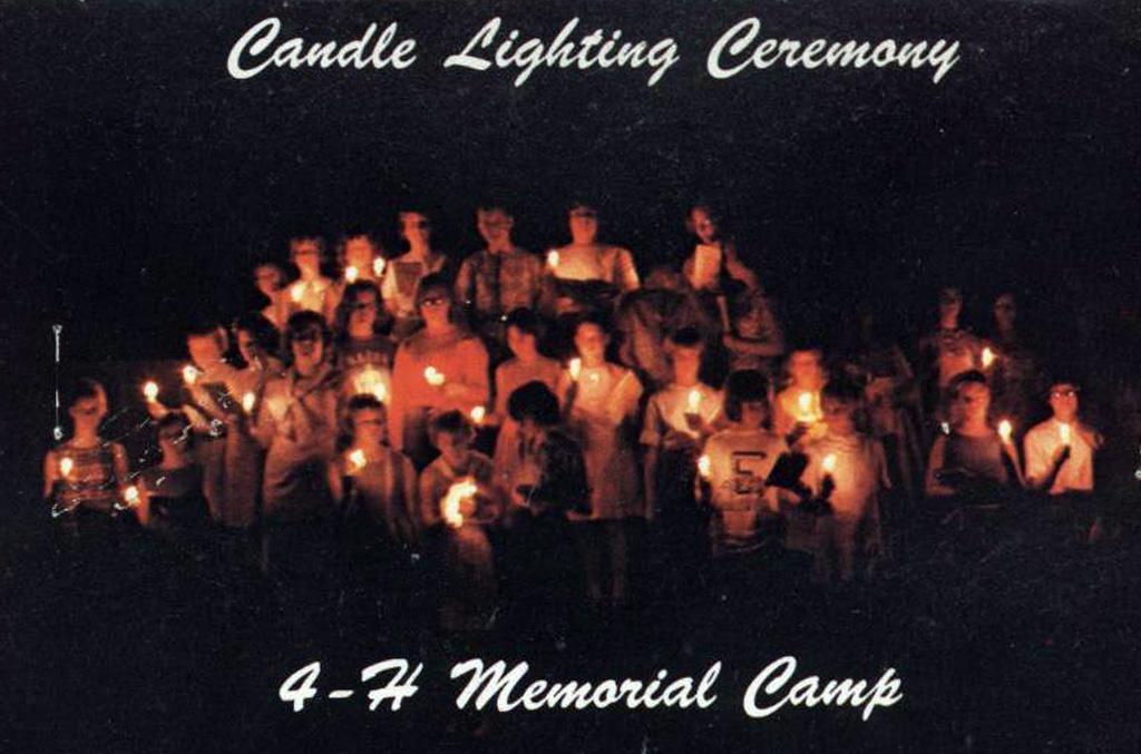 Postcard of the Candle Lighting Ceremony.