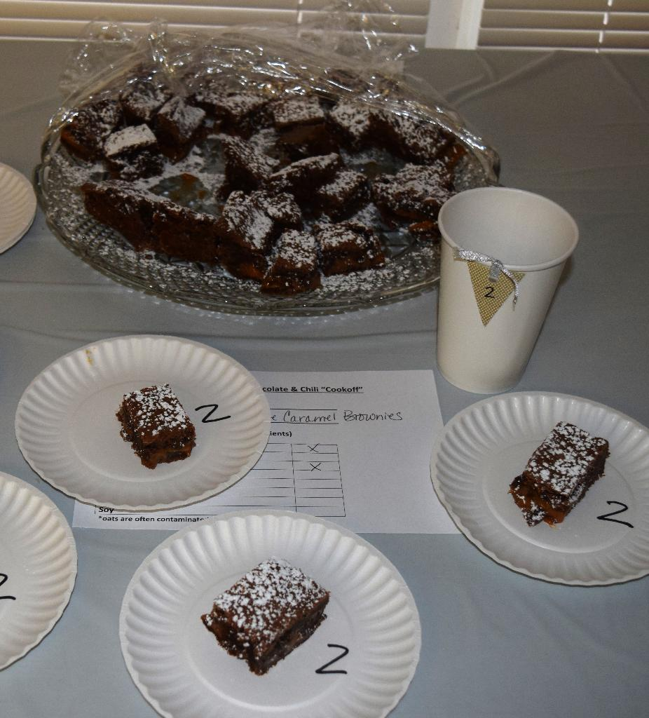 Caramel Brownies entry - Judges choice for Best Chocolate Entry
