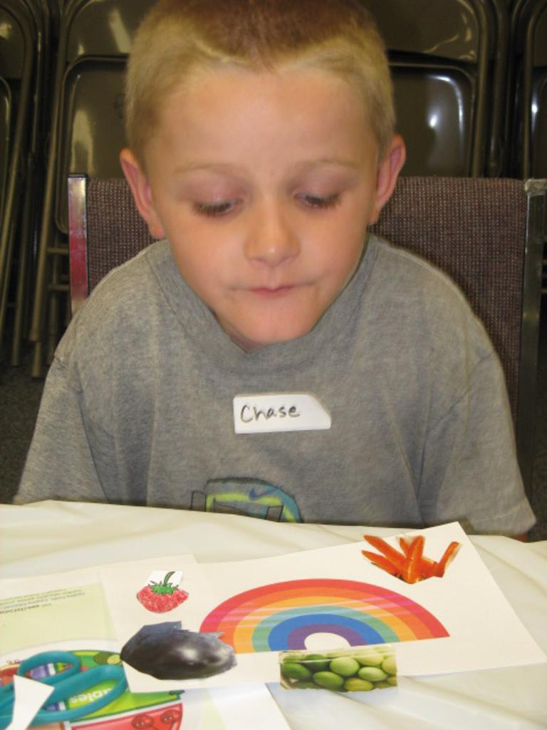 Chase and his rainbow foods picture