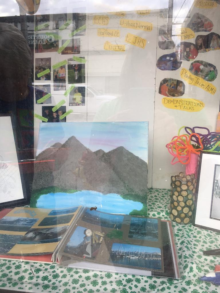 Chester 4-H club window display items