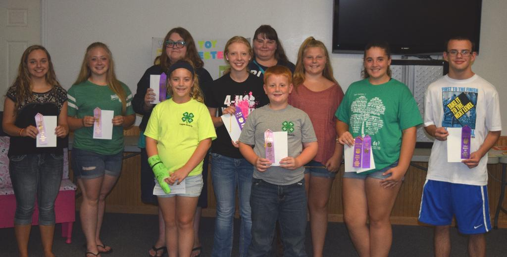 4-H members selected as Childcare, Interior Design and Consumer Ed State Fair delegates & alternates