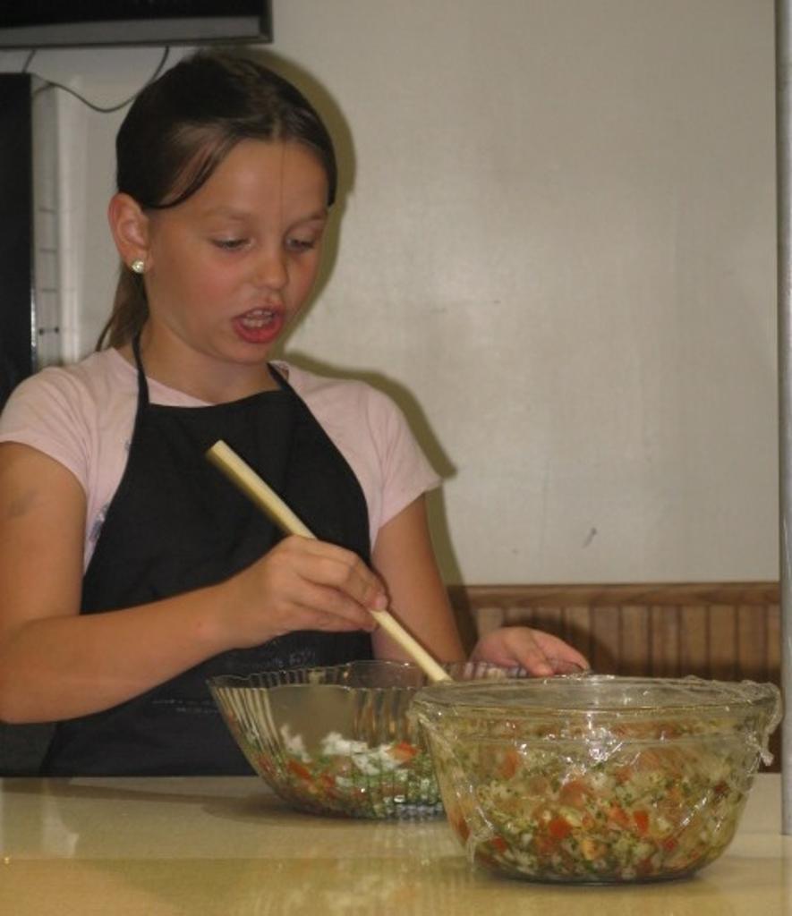Chloe demonstrated easy salsa