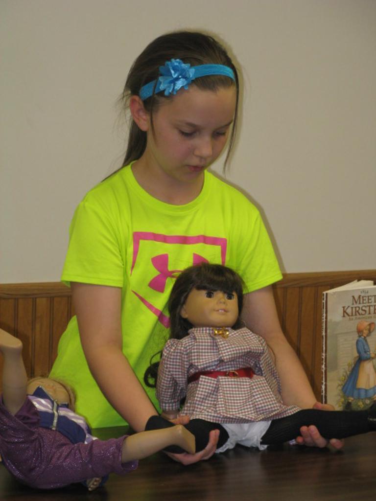 Chloe's speech was on American Dolls