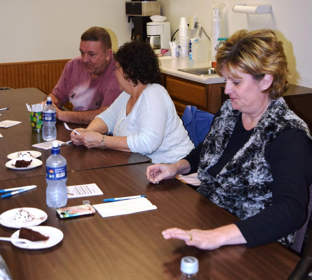 Chocolate judges work on evaluating entries