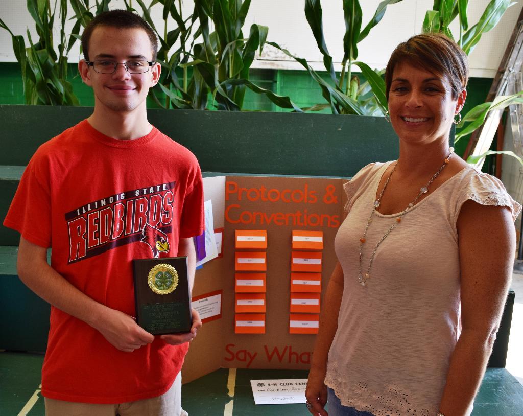 Clayton Top Computer Project award