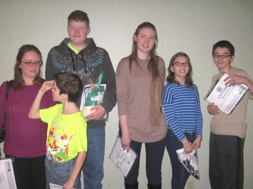 Cloverdale 4-H members present for recognition