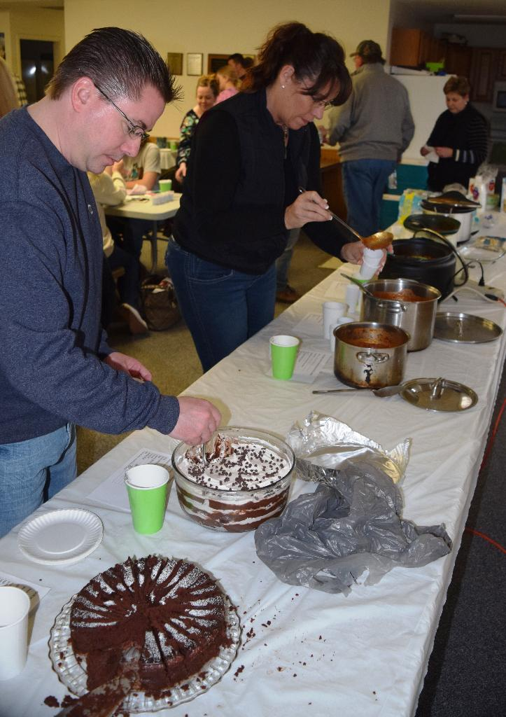 Tasting the chili and chocolate entries