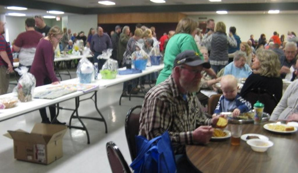 More of the crowd at the Spaghetti meal