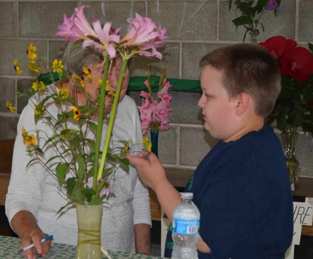 Flower judging