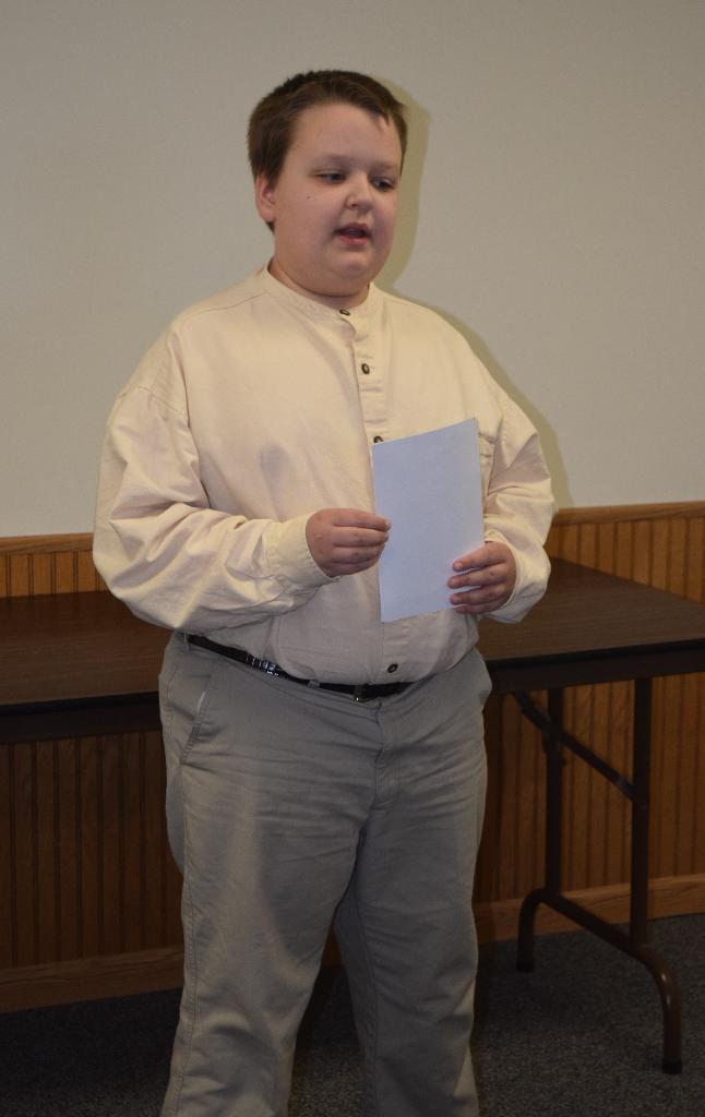Daniel gave an oral interpretation presentation