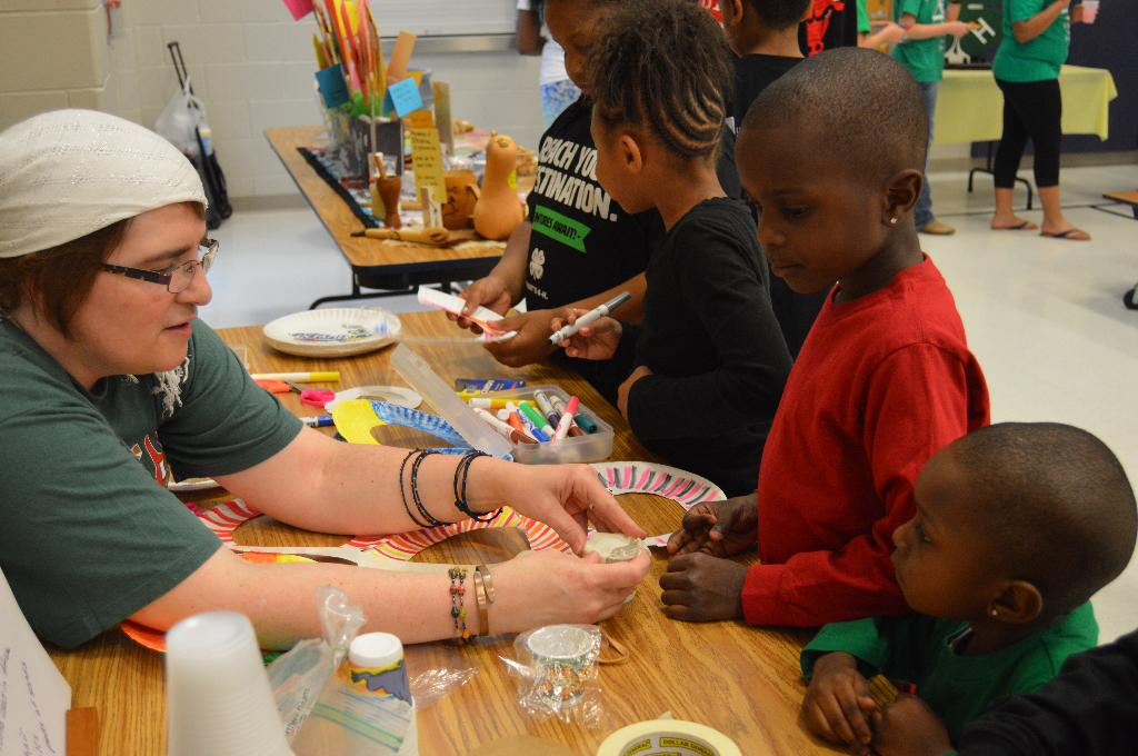 Island Grove 4-H Club studied countries in Africa and had an activity for youth to make shakers.