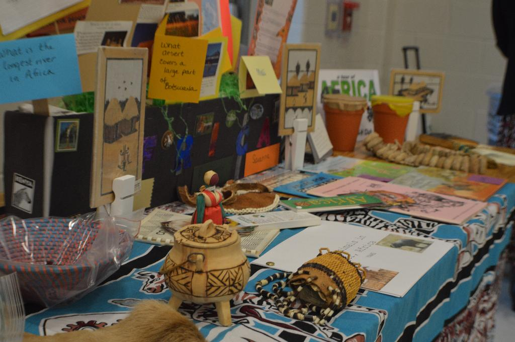 "One of the awesome display tables (Island Grove 4-H Clubs' ""Tour of Africa"")"