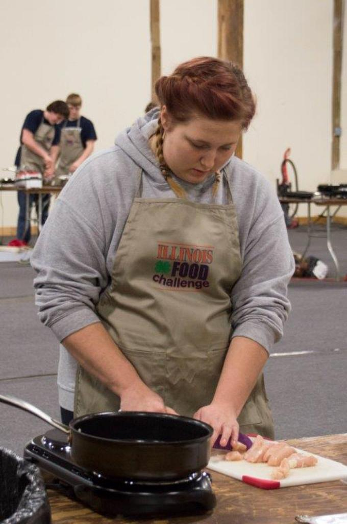 Livia Harmon of the Lazy Cooks from Clinton High School in DeWitt County.