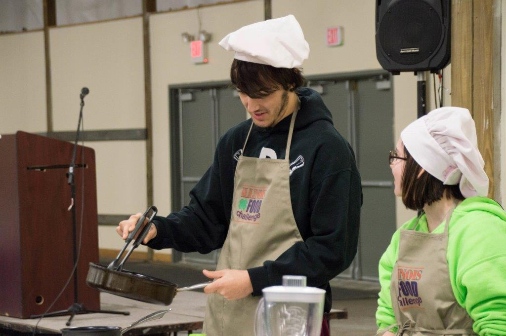 Callen Mears & Eva of the Maroon Chefs from Clinton High School
