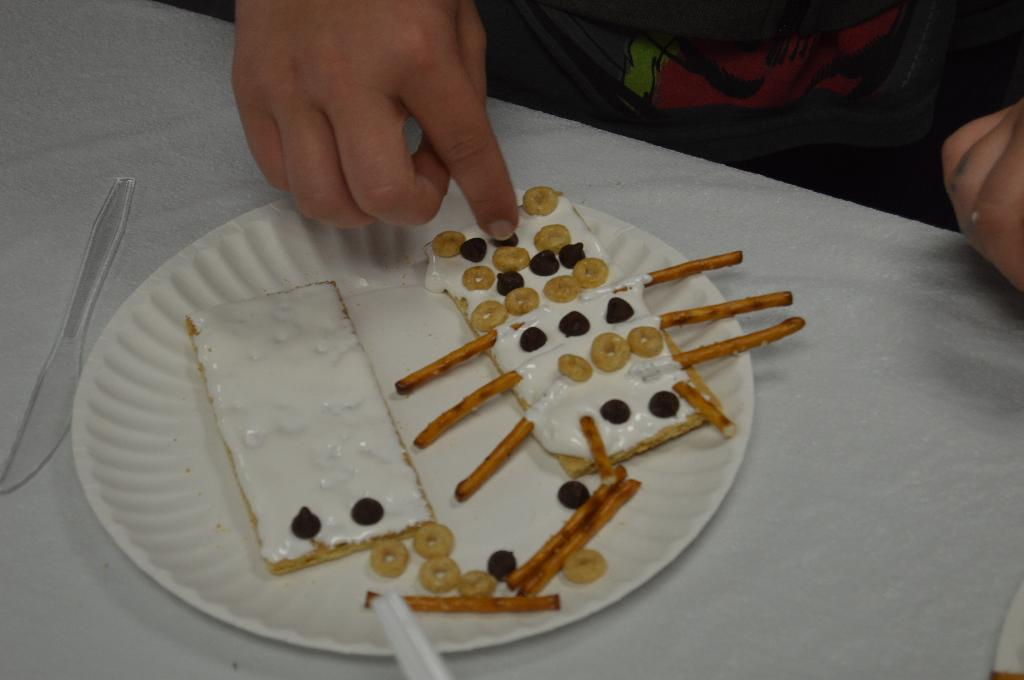 We even made a tasty treat with the symmetrical characteristics of insects