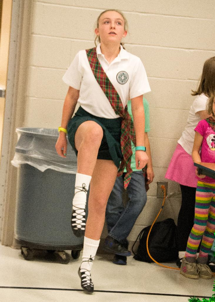 Rochester Cooper Jets 4-H Club Member presents a traditional Irish dance