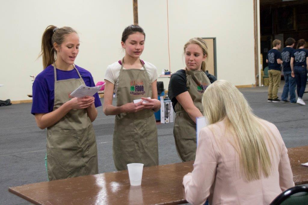 Piatt County's Disney Diner Food Challenge team of Carly Wienke, Alyssa McPike & Abby Eiston.