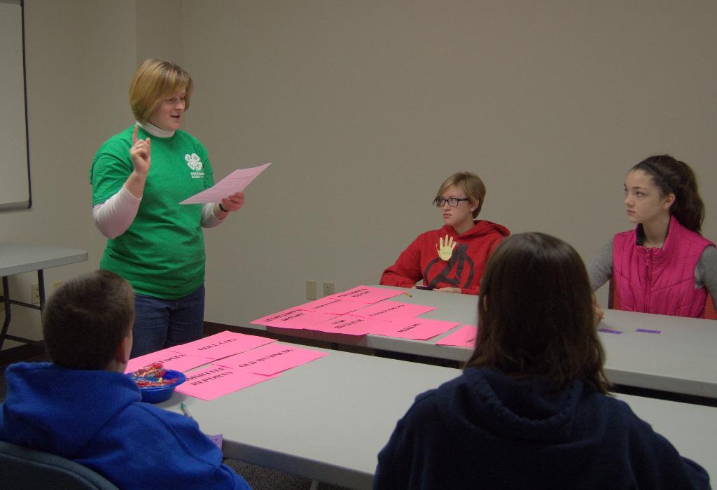 Secretary Breakout Session with Volunteer and 4-H Alumna Angela Gerberding