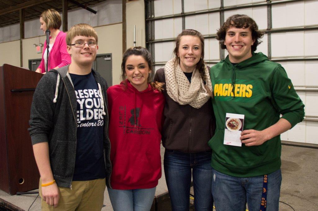 Senior Citizens: Clayton Smith, Haley Gregory, Ariel Campbell & Brody Allen from Cerro Gordo HS