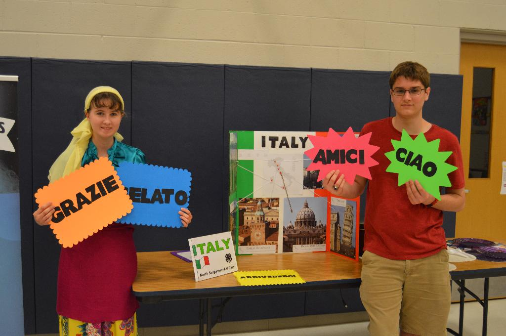 North Sangamon 4-H Club also taught us some useful Italian words!