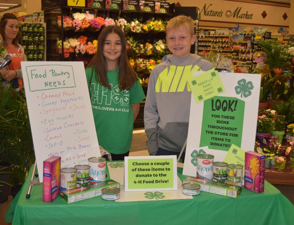 Display inside the Kroger store for Logan Food Drive.