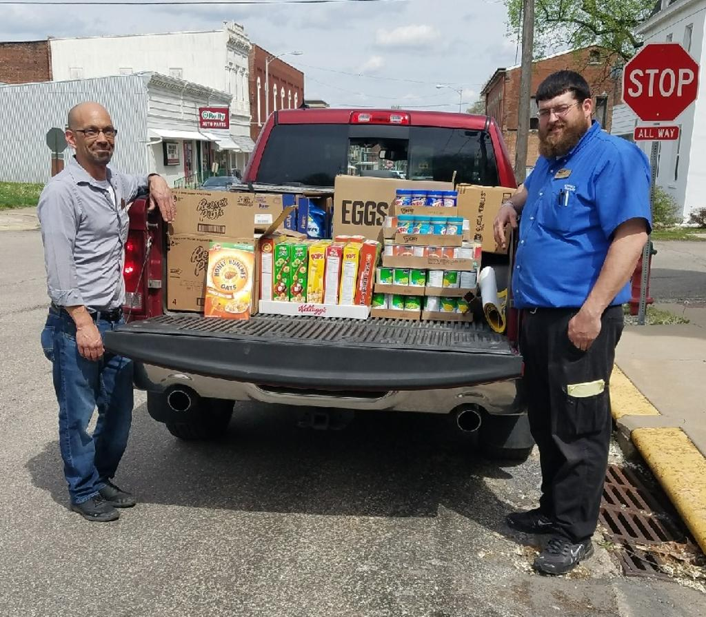 Menard county donations being delivered to Food Pantry!