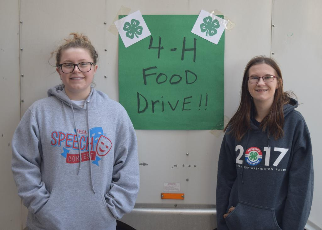Logan teens who braved the colder early morning temps to help at the Food Drive in Lincoln