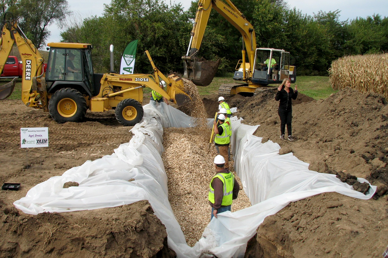 Think globally, act locally: Woodchip bioreactors help farmers reduce nutrient runoff