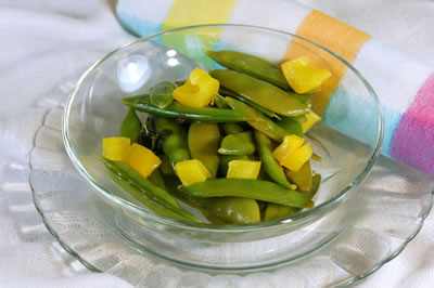 Basil Lemon Snap Peas