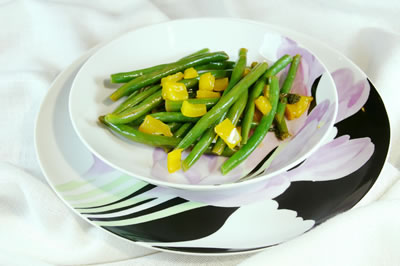 Basil Lemon Green Beans