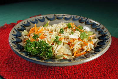 Super Easy Slaw with Noodles