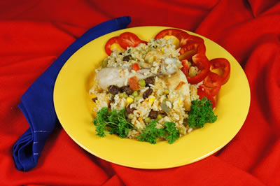 Chicken with Vegatables and Rice