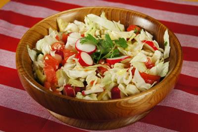 Fresh Cabbage and Tomato Salad