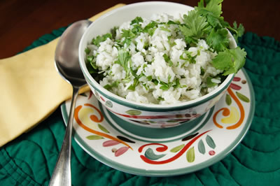 Parmesan Rice with Cilantro